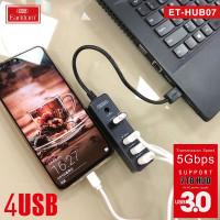 USB HUB EarlDom ET-HUB07 black