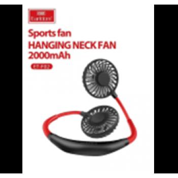 Подвесной шейный вентилятор c подсветкой с АКБ EarlDom ET-F02 Black+Red