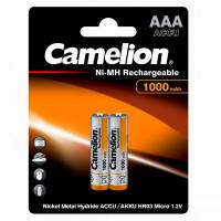 Аккумулятор  Camelion R03 AAA BL2 NI-MH 1000mAh (2/24/480/17280)