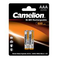 Аккумулятор  Camelion R03 AAA BL2 NI-MH 600mAh (2/24/480)