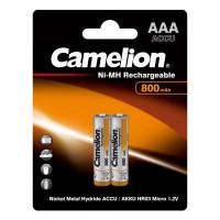Аккумулятор  Camelion R03 AAA BL2 NI-MH 800mAh (2/24/480)