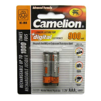 Аккумулятор  Camelion R03 AAA BL2 NI-MH 900mAh (2/24/480)
