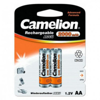 Аккумулятор  Camelion R6 AA BL2 NI-MH 2000mAh (2/24/384)