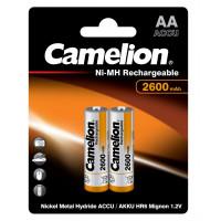 Аккумулятор  Camelion R6 AA BL2 NI-MH 2600mAh (2/24/384)