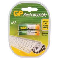 Аккумулятор  GP R03 AAA BL2 NI-MH 750mAh (2/20/200)