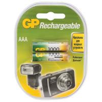 Аккумулятор  GP R03 AAA BL2 NI-MH 1000mAh (2/20/200)