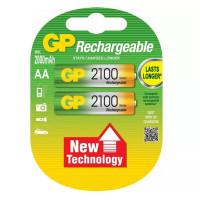 Аккумулятор  GP R6 AA BL2 NI-MH 2100mAh (2/20/160)