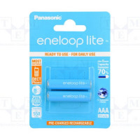 Аккумулятор  Panasonic R03 AAA BL2 NI-MH eneloop lite 550mAh (2/20/240)