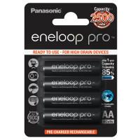 Аккумулятор  Panasonic R6 AA BL4 NI-MH eneloop pro 2500mAh (4/40/480)