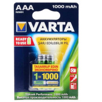 Аккумулятор  Varta R03 AAA BL2 NI-MH R2U 1000mAh (2/20/100)