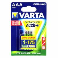 Аккумулятор  Varta R03 AAA BL2 NI-MH R2U 800mAh (2/20/100)