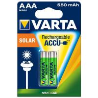Аккумулятор  Varta R03 AAA BL2 NI-MH Solar 550mAh