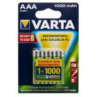 Аккумулятор  Varta R03 AAA BL4 NI-MH R2U 1000mAh