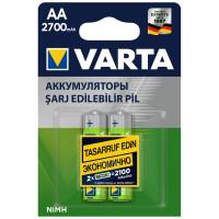 Аккумулятор  Varta R6 AA BL2 NI-MH 2700mAh (2/20/200)