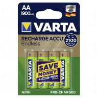 Аккумулятор  Varta R6 AA BL4 NI-MH Endless 1900mAh