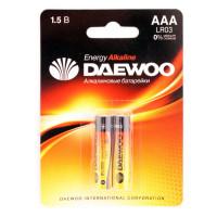 Батарейка Daewoo ENERGY LR03 AAA BL2 Alkaline 1.5V (2/20/480)