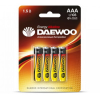 Батарейка Daewoo ENERGY LR03 AAA BL4 Alkaline 1.5V (4/40/960)