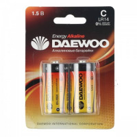 Батарейка Daewoo ENERGY LR14 C BL2 Alkaline 1.5V (2/24/192)