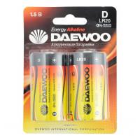 Батарейка Daewoo ENERGY LR20 D BL2 Alkaline 1.5V (2/12/96)