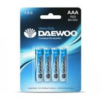 Батарейка Daewoo R03 AAA BL4 Heavy Duty 1.5V (4/40/960)