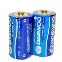 Батарейка Daewoo R14 C Shrink 2 Heavy Duty 1.5V (2/24/480)