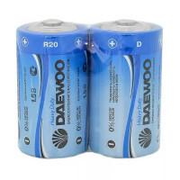 Батарейка Daewoo R20 D Shrink 2 Heavy Duty 1.5V (2/24/288)