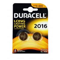 Батарейка Duracell CR2016 BL2 Lithium 3V (2/20/200)