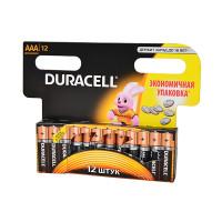 Батарейка Duracell Basic LR03 AAA BL12 Alkaline 1.5V (12/144)