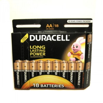 Батарейка Duracell Basic LR03 AAA BL18 Alkaline 1.5V (18/180)