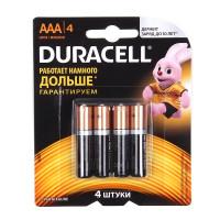 Батарейка Duracell Basic CN LR03 AAA BL4 Alkaline 1.5V (4/40)