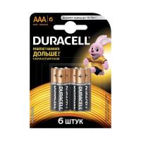 Батарейка Duracell Basic LR03 AAA BL6 Alkaline 1.5V (6/60)