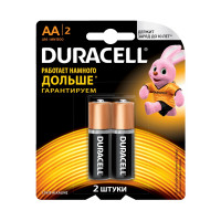 Батарейка Duracell Basic CN LR6 AA BL2 Alkaline 1.5V (2/40)