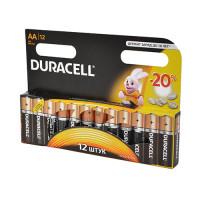 Батарейка Duracell Basic LR6 AA BL12 Alkaline 1.5V (12/144)