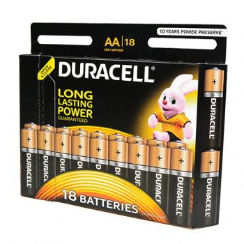 Батарейка Duracell Basic LR6 AA BL18 Alkaline 1.5V (18/180)