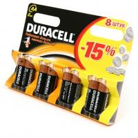 Батарейка Duracell Basic LR6 AA BL8 Alkaline 1.5V (8/96/18240)