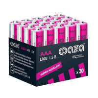 Батарейка Фаzа Super LR03 AAA BOX20 Alkaline 1.5V (20/480)