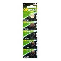 Батарейка GP CR1632 BL5 Lithium 3V (5/100/2000)