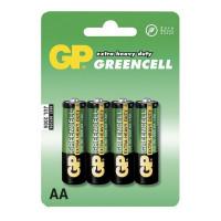 Батарейка GP GreenCell Extra R6 AA BL4 Heavy Duty 1.5V (4/72/288)