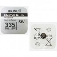 Батарейка Maxell 335 BL1 Silver Oxide 1.55V 0%Hg