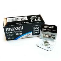 Батарейка Maxell 376/377 BOX10 Silver Oxide 1.55V 0%Hg