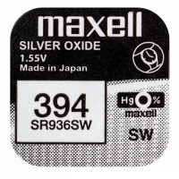 Батарейка Maxell 380/394 BL1 Silver Oxide 1.55V 0%Hg
