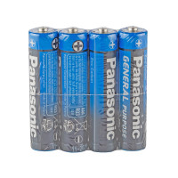 Батарейка Panasonic GENERAL Purpose R03 AAA Shrink 4 Zinc Carbon 1.5V (4/60/1200)