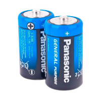 Батарейка Panasonic GENERAL Purpose R20 D Shrink 2 Zinc Carbon 1.5V (2/24/288)
