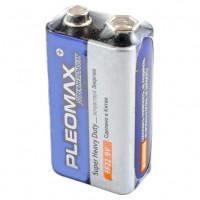 Батарейка Pleomax Super Крона 6F22 Shrink 1 Heavy Duty 9V (1/50/200/10400)