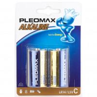 Батарейка Pleomax LR14 C BL2 Alkaline 1.5V (2/20/160/6400)