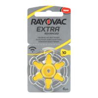 Батарейка Rayovac Extra ZA10 BL6 Zinc Air 1.45V (6/60/600)