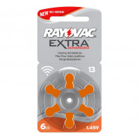 Батарейка Rayovac Extra ZA13 BL6 Zinc Air 1.45V (6/60/600)
