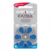 Батарейка Rayovac Extra ZA675 BL6 Zinc Air 1.45V (6/60/600)