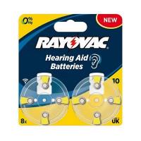 Батарейка Rayovac ACOUSTIC ZA10 BL8 Zinc Air 1.45V 0%Hg