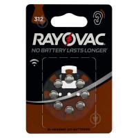 Батарейка Rayovac ACOUSTIC ZA312 BL8 Zinc Air 1.45V 0%Hg